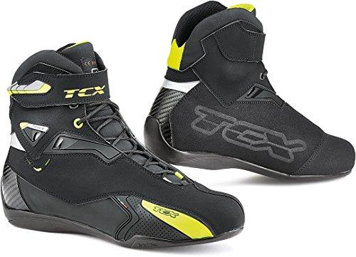 TCX Rush WP Motorradstiefel schwarz/Neongelb, schwarz/Neongelb, 46
