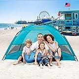Alvantor Beach Tent Coolhut Plus Beach Umbrella Sun Shelter Cabana Automatic Pop Up UPF 50 Sun Shade...