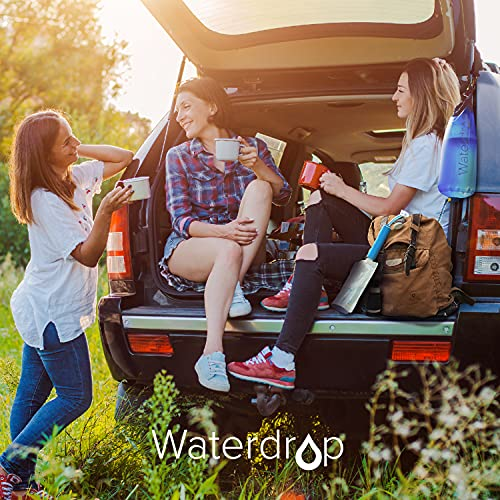 Product Image 9: Waterdrop Gravity Water Filter Straw, Portable Water Purifier Survival for Camping, Hiking, Backpacking and Emergency Preparedness, Green