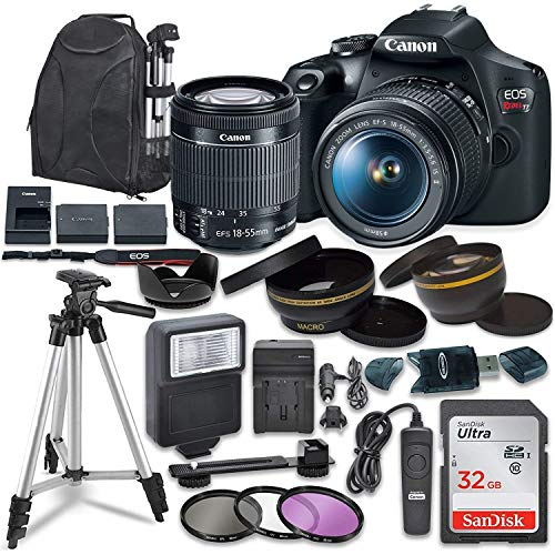Canon EOS Rebel T7 Digital SLR Camera with Canon EF-S 18-55mm...