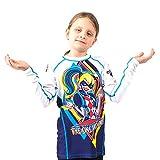 Fusion Harley Quinn Kids Rash Guard Compression Shirt Long Sleeve (L)