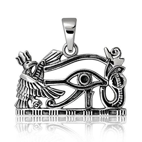 Colgante de plata de ley 925 con Ojo de Horus, símbolo de protección