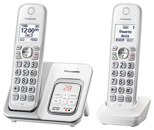 Panasonic DECT 6.0 Expandable Cordless Phone with...