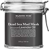 MAJESTIC PURE Dead Sea Mud Mask with Lavender Oil - Natural Face and Skin Care - Helps Reducing Pores and Appearances of Acne and Blackheads - Soothing, Therapeutic, and Nourishing - 8.8 oz
