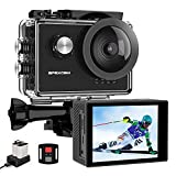 Apexcam 4K 60fps Caméra Sport WiFi 40M Action Camera sous-Marine Ultra HD 170 °Grand Angle 2.4G...