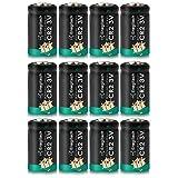 Enegitech CR2 Batteries, 3V 800mAh Lithium Battery for Golf Laser Rangefinder, Laser Pointer, Instax Printer, Baby Monitor, Flashlight, Digital Cameras - 12 Counts (Pack of 1)