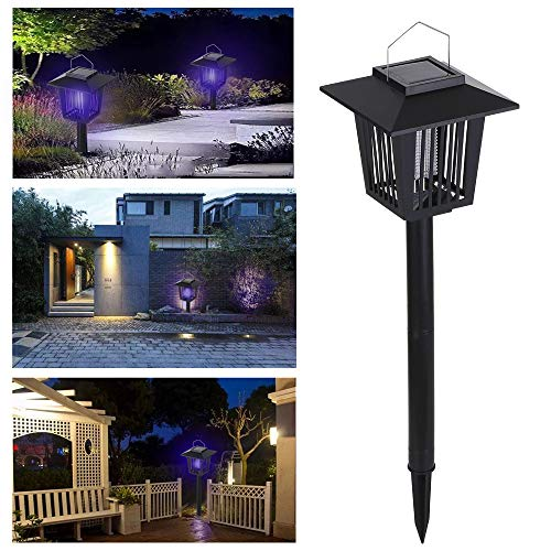 Lixada Solar Landscape Spotlights,2-in-1 Waterproof Solar Powered LED Light Electric Lamp for Yard Garden Driveway Porch Walkway Pool Patio