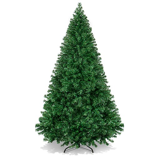 Best Choice Products 6ft Hinged Artificial Christmas Pine Tree Holiday Decoration w/Metal Stand, 1,000 Tips, Easy Assembly, Green