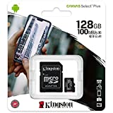Kingston Canvas Select Plus Carte MIcro SD SDCS2/128GB Class 10 + Adaptateur...