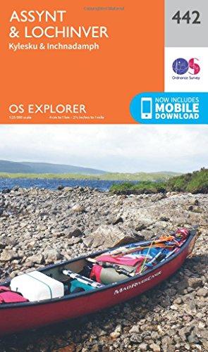 OS Explorer Map (442) Assynt and Lochinver (OS Explorer Paper Map)