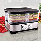 Multi Tier Food Dehydrator Machine - 250 Watt Professional Stainless Steel Electric Food...