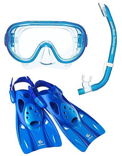 リーフツアラー マスク シュノーケル フィン 3点セット RP0102 ブルー Mサイズ