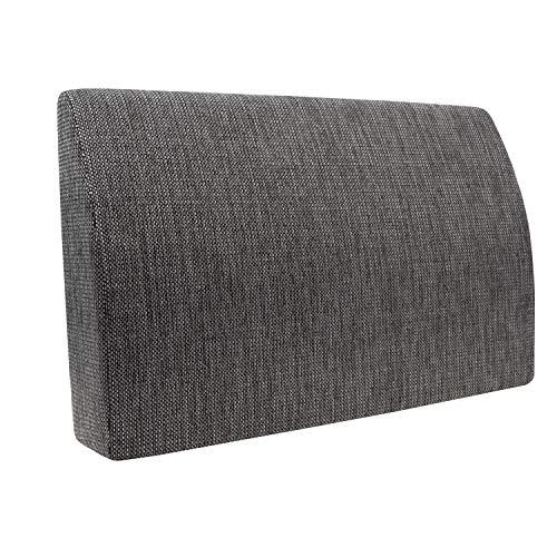 Formalind - Cuscino per letto e divano, 70 x 45 x 15 cm, per guardare la televisione e leggere, design elegante, in tessuto imbottito grigio mélange