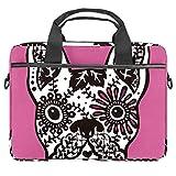 Sugar Skull - Bolsa para portátil de 13,4 a 14 pulgadas, multifuncional, maletín portátil, correa ajustable para el hombro