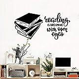 wZUN Cita de Lectura calcomanías de Pared Accesorios de decoración del hogar Dormitorio de los niños del bebé Biblioteca Pegatinas de Pared Libro de Lectura Mural 42X87cm