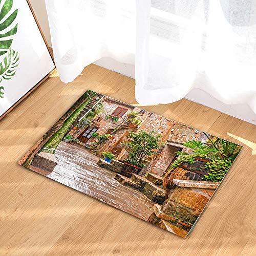 vrupi Centro storico Pitigliano Toscana street pattern benvenuto aperto coperta camera letto cucina porta ingresso tappetino decorazione della casa zerbino 40 * 60cm rettangolare tappeto bagno hotel