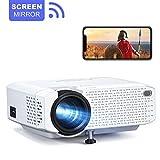 Rétroprojecteur Crosstour WiFi Portable Videoprojecteur Telephone Miroir d'écran 1080P Full HD...