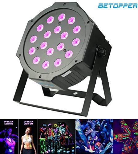 BETOPPER UV Black Light dj luci da palcoscenico led a luce 18 * 1W LED DMX512 di illuminazione UV a...