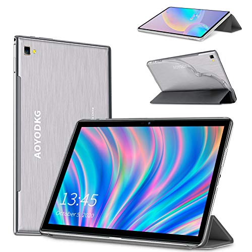 Tablette Tactile 10.1 Pouces 4G LTE Call, Tablet PC Android 9.0 Pie Google Certifié GMS, 4Go RAM + 64Go ROM,8 Cœurs CPU Type-C,8000mAh Batterie,8MP, WiFi/GPS/OTG/Bluetooth Support Gaming (Gris)
