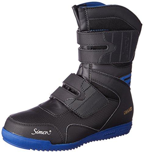[シモン] 安全作業靴 JSAA規格 軽快 長編上 高所作業 マジック 鳶技 S038 黒 26.5 cm 3E