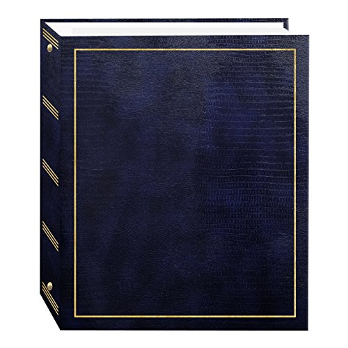 Pioneer Photo Albums Magnetic Self-Stick 3-Ring Photo Album 100 Pages (50 Sheets), Navy Blue