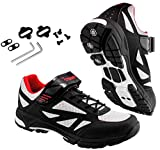 TriSeven Mountain MTB Shoes - Lightweight, Breathable Synthetic Leather, Anti-Slip Heal & SPD/Indoor Cycling Compatible! (9.5 USA - 43 EU)