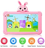 Tablet for Kids, 7 inch Tablet for Toddler HD IPS Display 1G+16GB Quad Core Android 9.0 Tablets with WiFi Camera Safety Eye Protection Parental Control Kids Learning Tablet (Rosered)