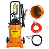 Mophorn Grease Pump 3 Gallon Air Operated Grease Pump with Pneumatic Compressed Gun Lubrication Grease Pump 50:1 Pressure Ratio(12L)