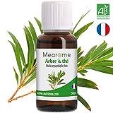 Huile essentielle d'ARBRE A THE (Tea Tree) BIO - Confort respiratoire, Diffuseur, Aromathérapie - 30 ml - 100% Pure et Naturelle, HEBBD, HECT - Distillée en France - Mearome