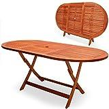 Deuba Gartentisch Esstisch Alabama Klappbar Akazien Holz 160x85cm Holztisch Garten Tisch Gartenmöbel - 2