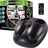 RESTECK™ Shiatsu Foot Massager Machine with Heat {Remote Control} Deep Kneading Massage Therapy, Air Compression, Relieve Foot Pain from Plantar Fasciitis, Neuropathy & Chronic Nerve Pain