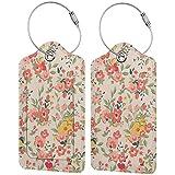 Etiqueta de lujo de cuero personalizado de la maleta de lujo de la flor de la vendimia fijada