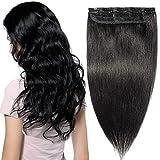 Extension a Clip Cheveux Naturel Monobande - Rajout Cheveux Humain Remy...