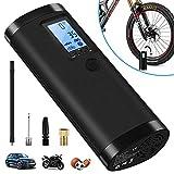 VEEAPE Pompe à Air électrique pour Voiture et Vélo, Mini Compresseur...