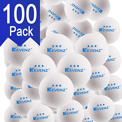 KEVENZ 100-Pack 3-Star 40+ Table Tennis Balls,Advanced Ping Pong Ball (Orange, White)