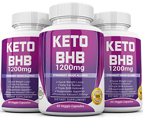 Keto Diet Pills - (1200mg 90 Day Supply) Weight Loss Fat Burner for Women & Men, Exogenous Ketones Supplement Boost 4
