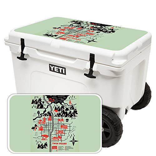 MightySkins (Cooler Not Included) Skin Compatible with Yeti Tundra Haul Cooler Lid - Twin Peaks Map | Protective, Durable, and Unique Vinyl Decal wrap Cover | Easy to Apply | Made in The USA