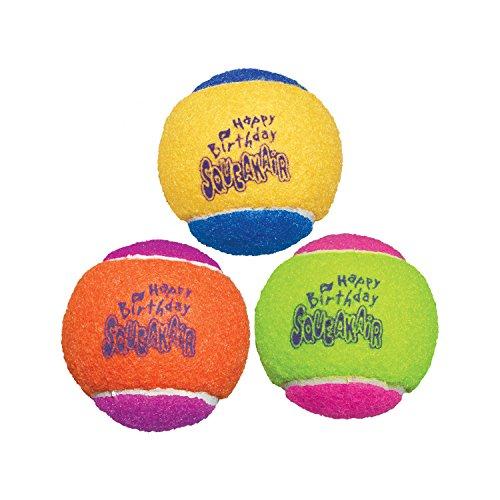 KONG - Squeakair Birthday Balls - Dog Toy Premium...