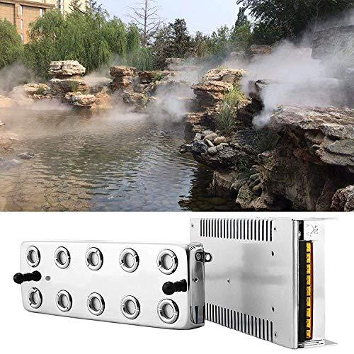 TOPQSC Máquina de Niebla Portátil Humidificador de Niebla Ultrasónica 3000ML/H Productor de Spray Máquina de Humo Atomizador de Humidificador de Efecto Invernadero para Jardinería y Uso de Estanques