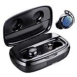 Bluetooth Kopfhörer, Tribit 100 Std. Spielzeit USB-C Ladebox Schnellladung Bluetooth 5.0 IPX8 Wasserdicht Touch Sensoren in-Ear Deep Bass Eingebautes Mic Kopfhörer Kabellos, FlyBuds 3