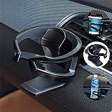 Umisky Porte-gobelet de voiture, support réglable sur grille d'aération de...