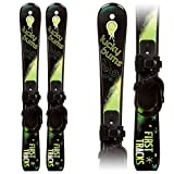 Lucky Bums Kids Beginner Snow Skis, Green