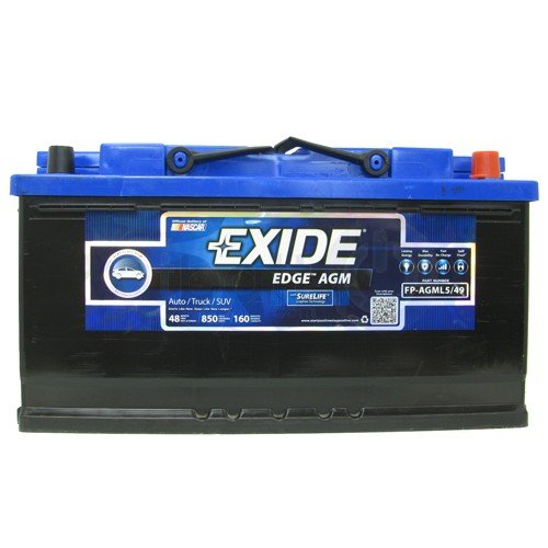 Exide Edge FP-AGML5 Flat Plate Battery