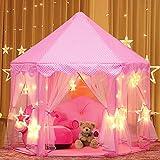 joylink Tente Princesse, Château de Princesse Tente avec LED Star Light de...