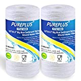 5 Micron 4.5' x 10' Whole House Big Blue String Wound Sediment Filter for Well Water, Replacement Cartridge for 84637, WPX5BB97P, PC10, 355214-45, 355215-45, WP10BB97P, WP5BB97P, 2Pack
