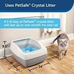 PetSafe-Deluxe-Cat-Litter-Box-with-Crystal-Litter-System--Starter-Kit-Includes-Litter-Scoop-Pee-Pad-1-Month-of-ScoopFree-Premium-Crystal-Litter