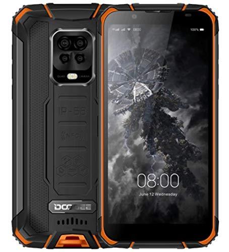 DOOGEE S59 PRO【2021】Téléphone Portable Incassable, Batterie 10000mAh, Octa Core 4Go+128Go(256GB SD externe), Smartphone Débloqué Étanche IP68, Haut-parleur 2W, Caméra Quad AI 16MP, DUAL SIM NFC Orange