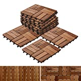 """Acacia Wood Deck Tiles 