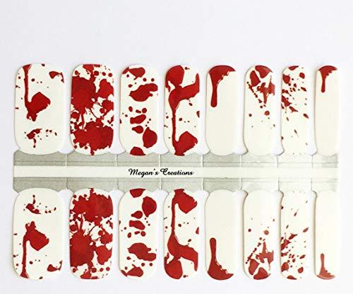 Halloween Blood Splatter Nail Polish Wraps - Nail Polish Strips