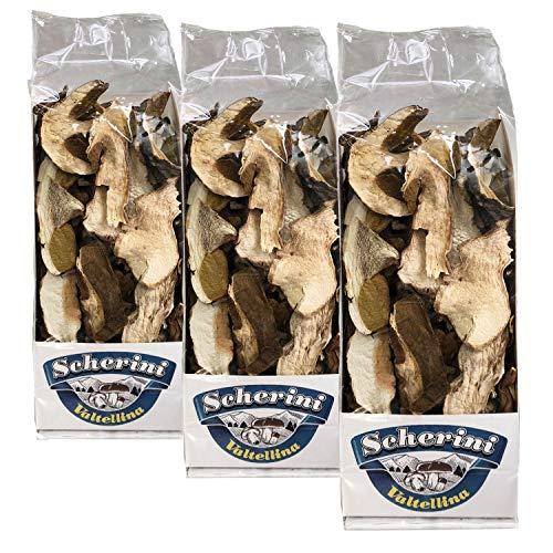 Scherini Valtellina - confezioni funghi Porcini secchi COMMERCIALI (100g x 3)